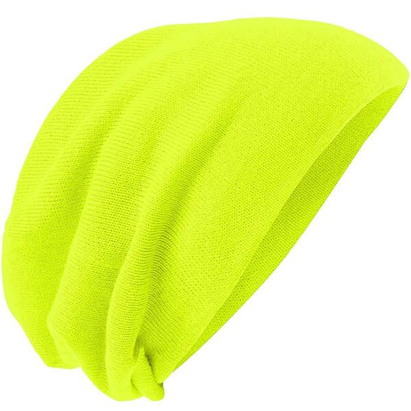 Men's Slouch Neon Beanie