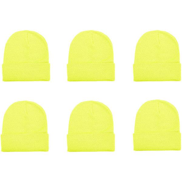 6 Pcs Neon Beanie Hat