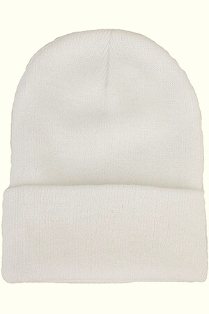 Plain Skull Knitted Beanie Hat