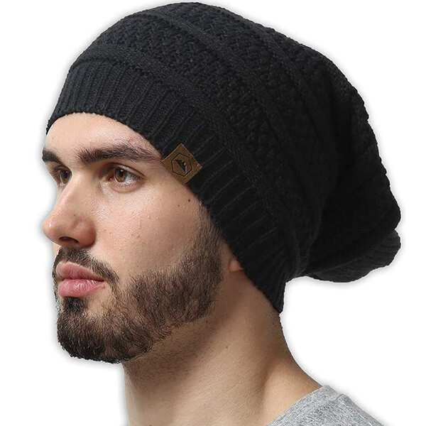 Slouchy Cable Knit Beanie
