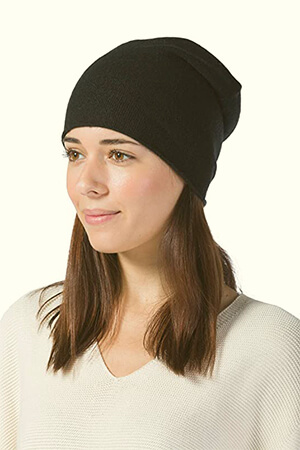Fishers Finery Women's Cashmere Slouchy Beanie