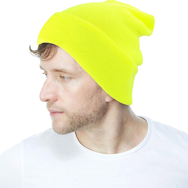 Plain Neon Beanie by Hat Depot