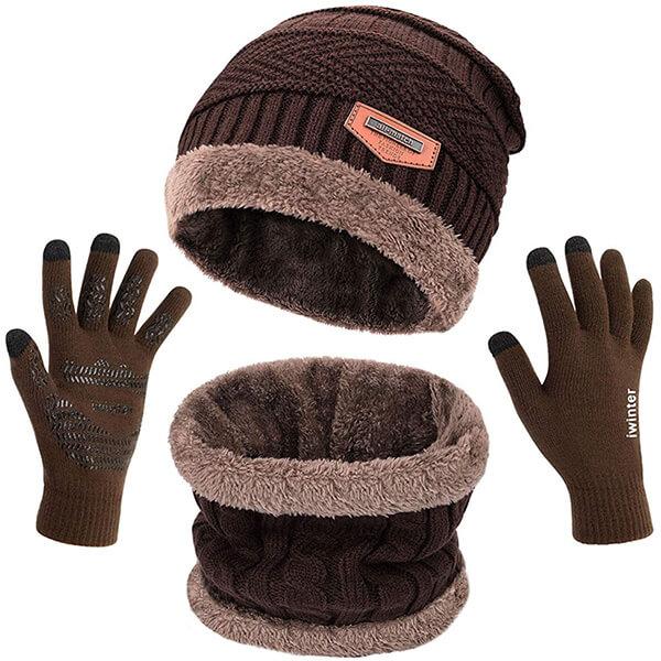 3 Piece Beanie Hat Set