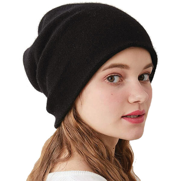 Double Layered Pure Cashmere Beanie