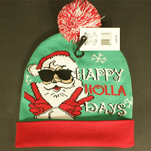 Green Santa Beanie Winter Hat