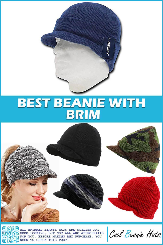 beanie with brim