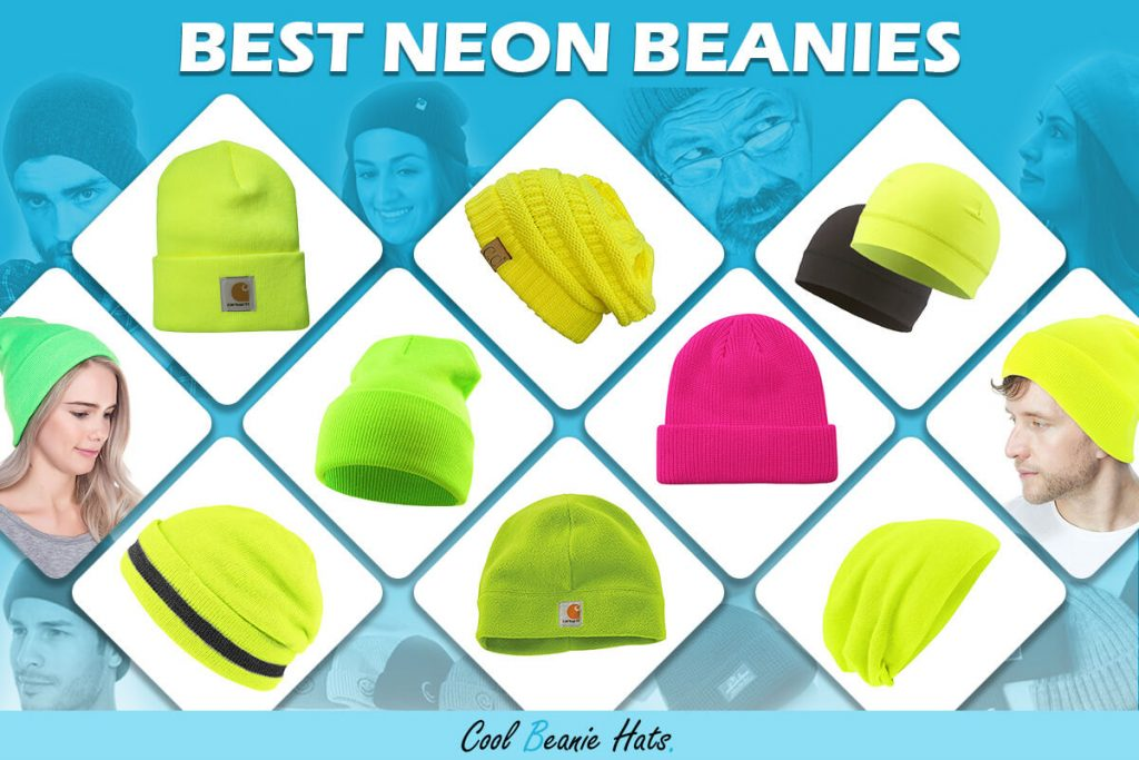 best neon beanies and winter hats