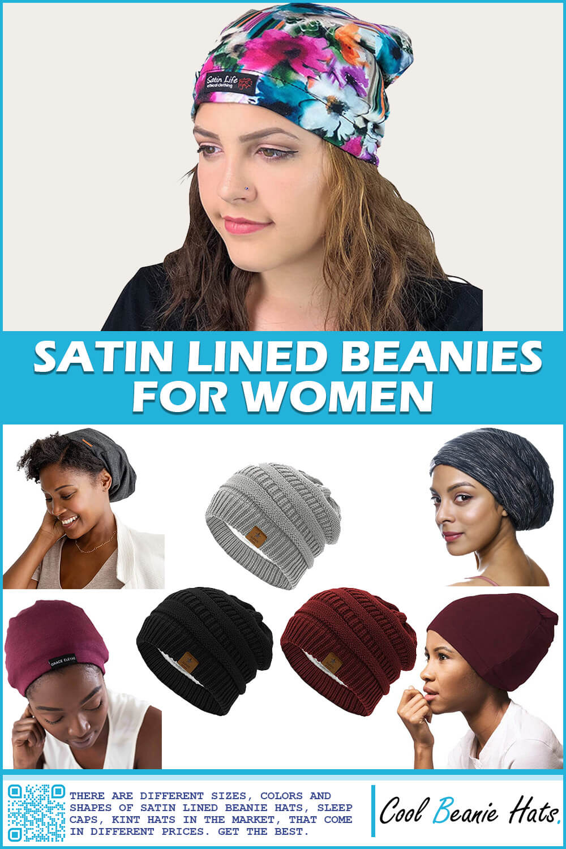 best satin lined beanies for women