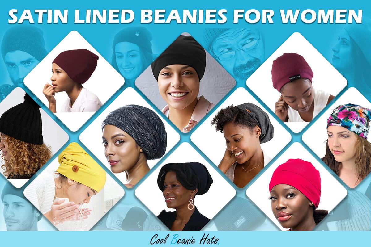satin lined beanies for women