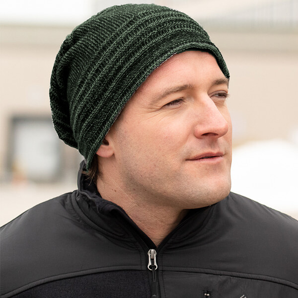 Slouchy Style Ribbed Beanie for Men