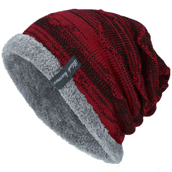 Men's Slouchy Beanie With Fleece Lining