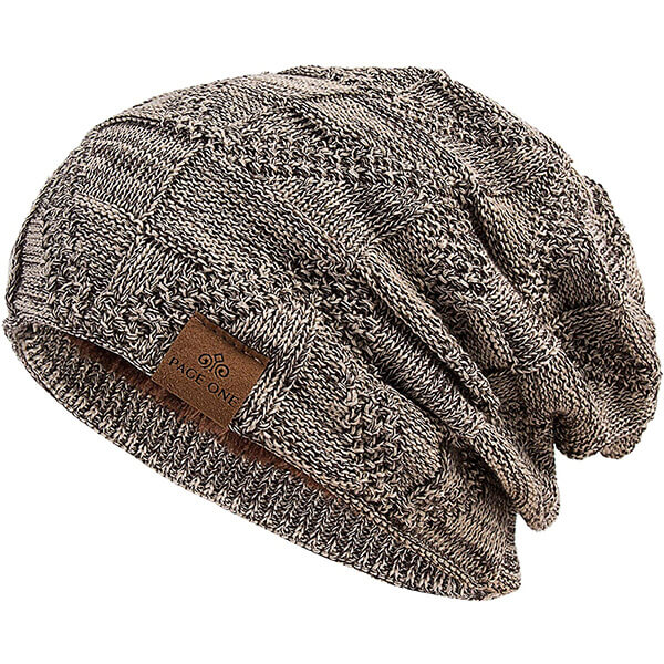 PAGE ONE Slouchy Fleece Lined Beanie