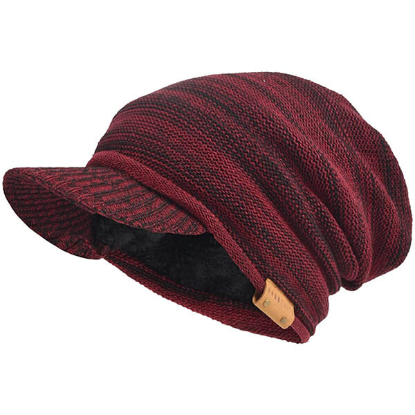 Oversize Slouchy Men's Beanie Hat with Visor