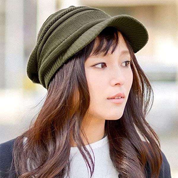 CHARM Men's Summer Knit Beanie Hat Visor