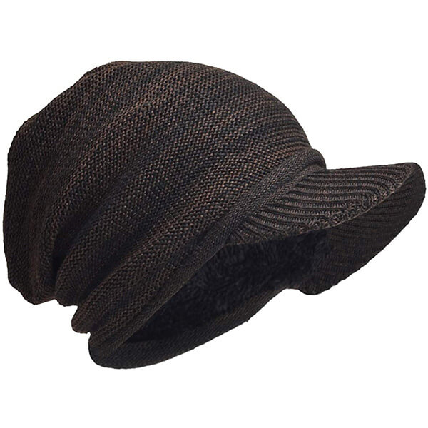 Classic Oversize Slouchy Men's Beanie Hat with Visor