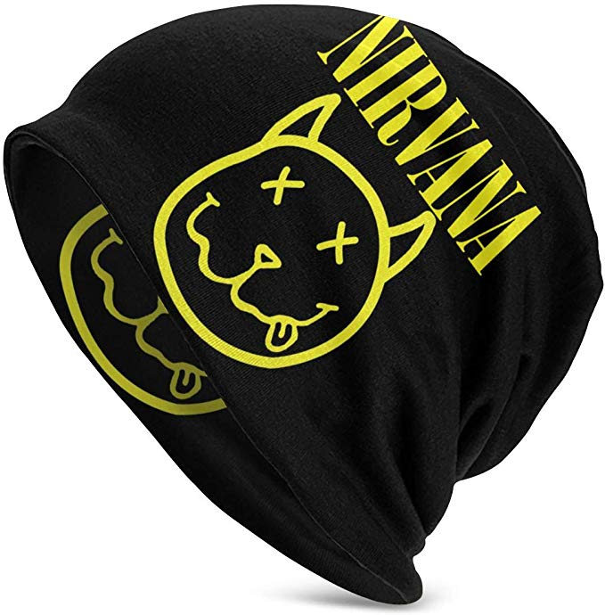 Nirvana Smiley Face smells like teen spirit Baseball Hat black One Size Fits All