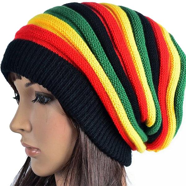 Oversized Jamaica Reggae Rasta Beanie