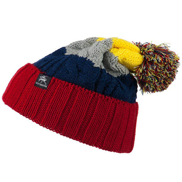 Mixed Colors Oversized Beanie