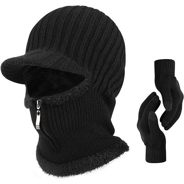 Billed Balaclava Beanie Hat