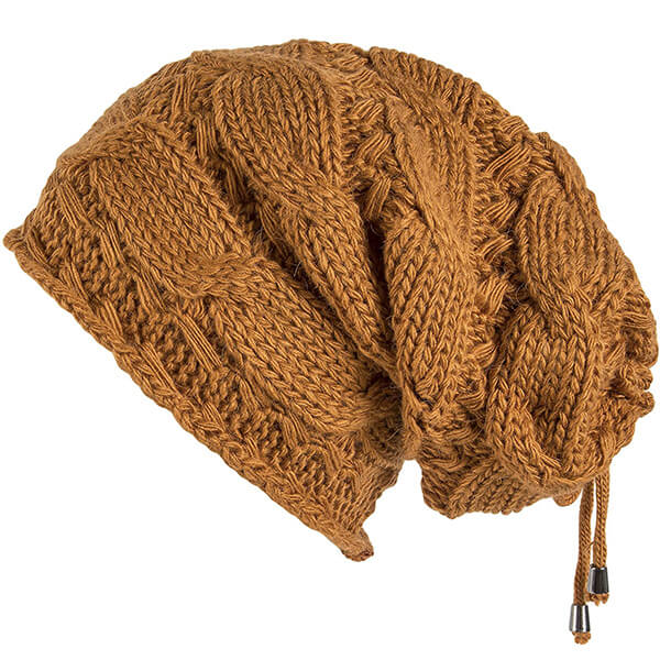 Cable Knit Slouchy Oversized Beanie