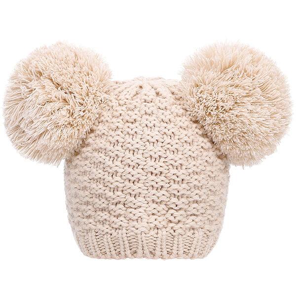 Beanie Hat with Pom Pom Ears