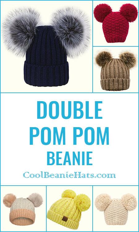 Double Pom Pom Beanie