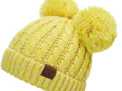 Double pom pom beanie hats