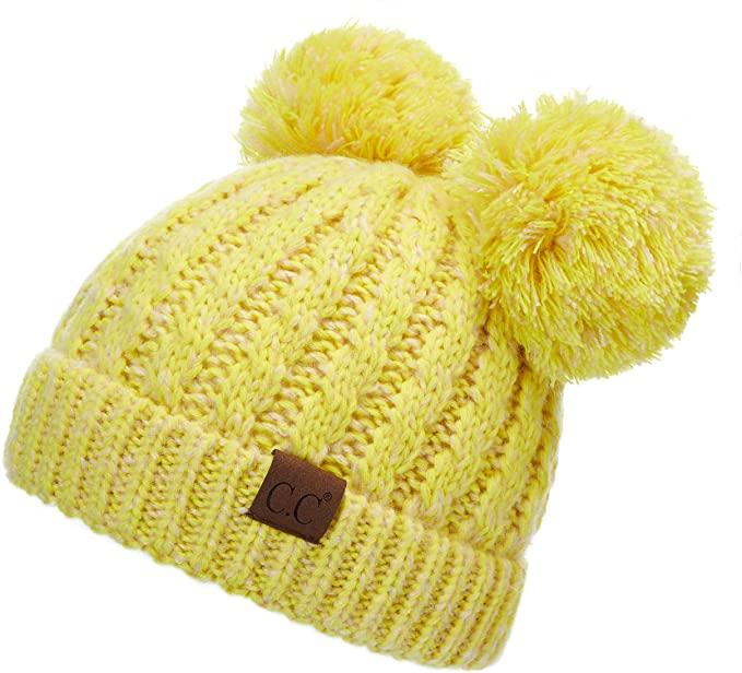 Double-pom-pom-beanie-hats