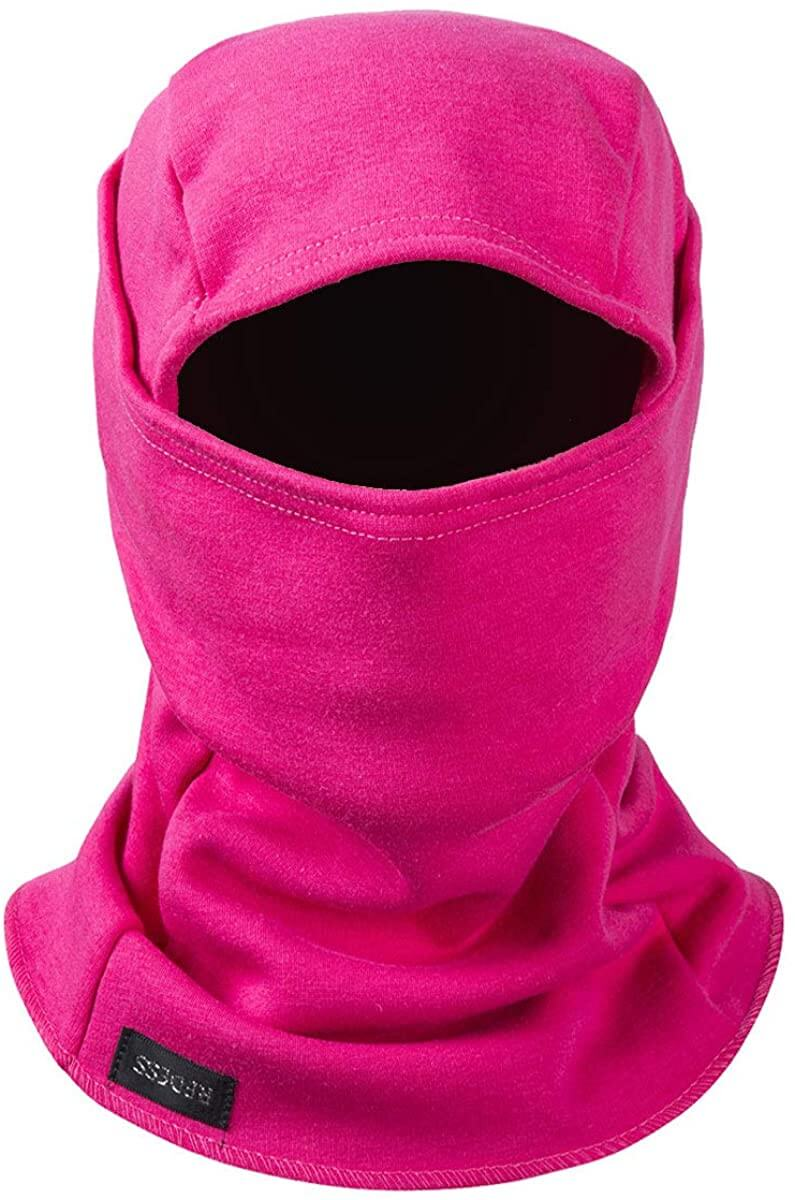 Fleeced rose pink balaclava mask