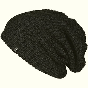 Waffle knit men's slouchy beanie
