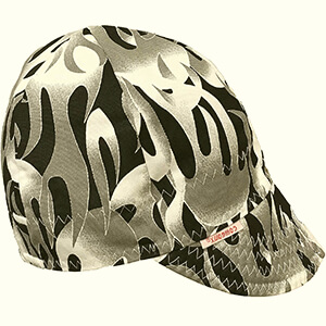 Black-gray flames welding beanie