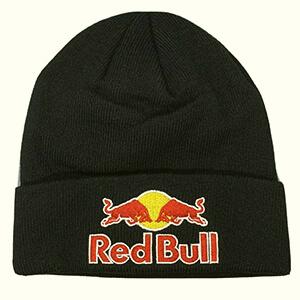 Casual black Red Bull beanie