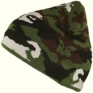 Classic dark-colored camo beanie