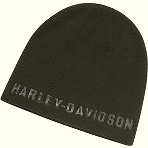 Debossed graphic script Harley-Davidson beanie