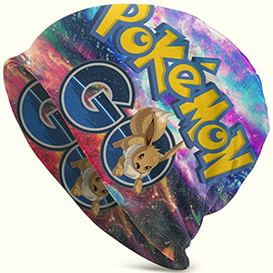 Galaxy colorful Eevee beanie for adults