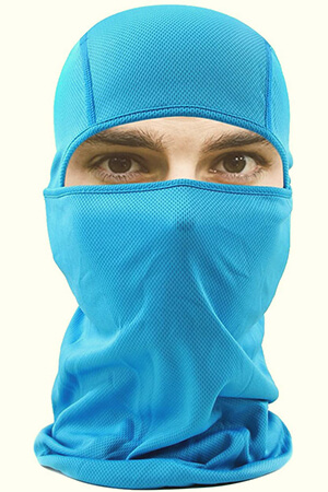 Light blue balaclava face mask