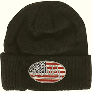 US flag Von Dutch beanie