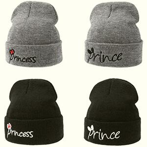 Prince script baby boy's beanie hat