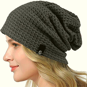 Baggy beanie women's solid color style
