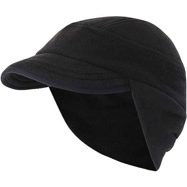 Billed Fleece Beanie with Ear Coverage