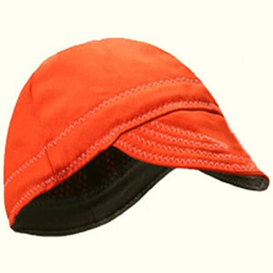 Orange welding beanie cap