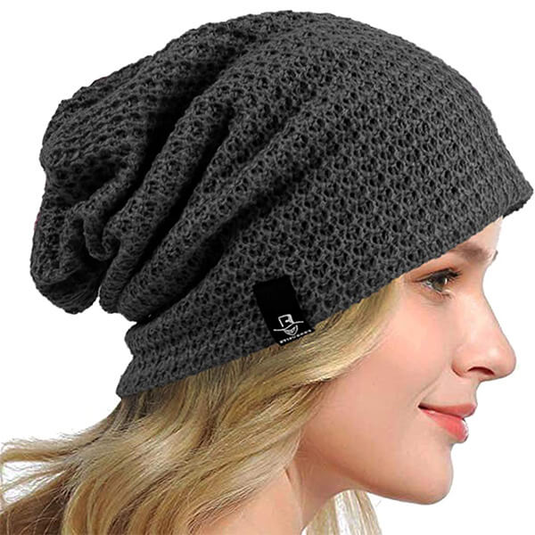Solid Color Baggy Beanie
