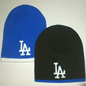 Blue with white bottom Dodgers beanie