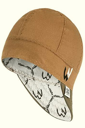 Caramel-brown welding beanie
