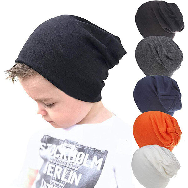 Different Colors 5-pack Slouchy Baby Boy's Beanie Hat