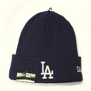 Dark royal blue folded LA Dodgers beanie
