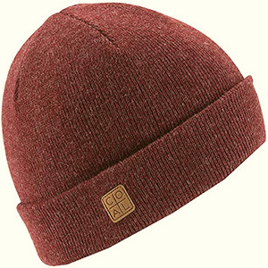 Fisherman Coal beanie with suede patch