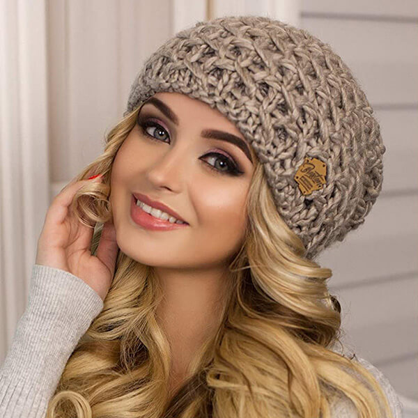 Thick Wool Slouchy Beanie