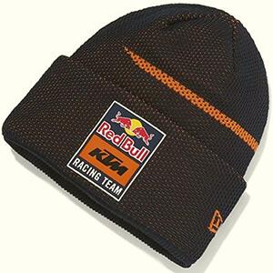 Navy-orange mesh texture Red Bull beanie