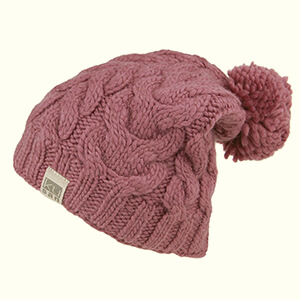 Rose pink oversized beanie for women